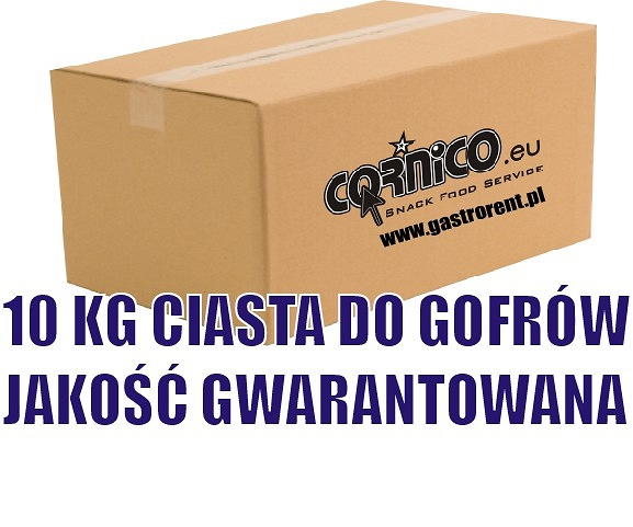 Ciasto gofrowe 10 kg (10x1kg), ( POWDERED MIX - ADD ONLY WATER)